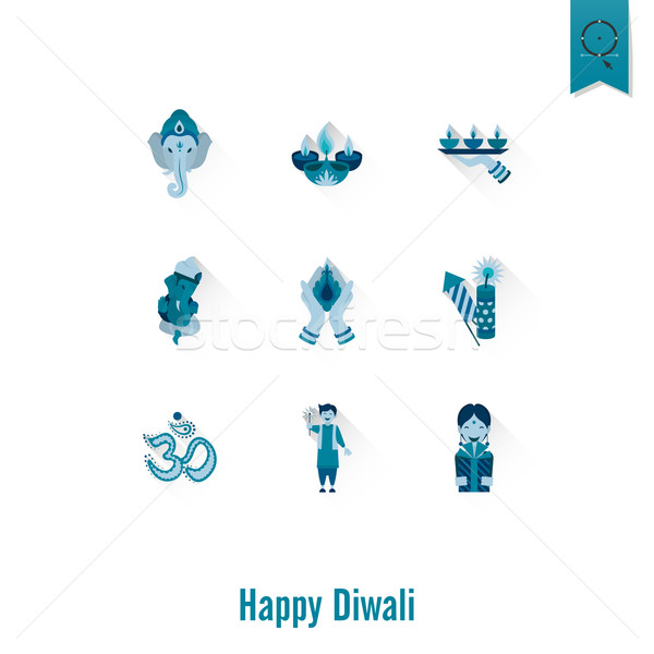 Stock photo: Diwali. Indian Festival Icons