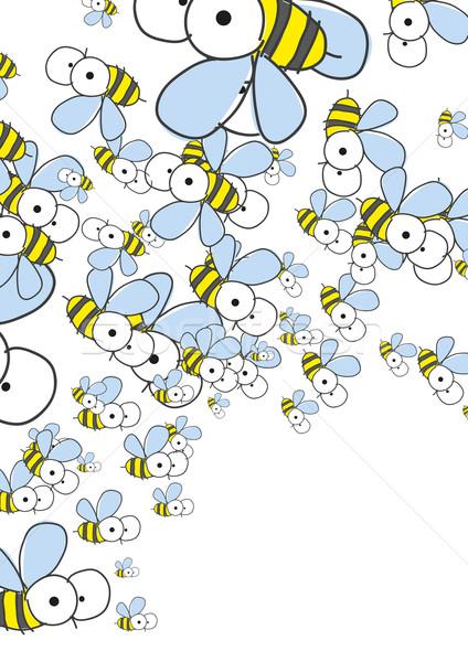 Fehér méhek tavasz eps baba boldog Stock fotó © HelenStock