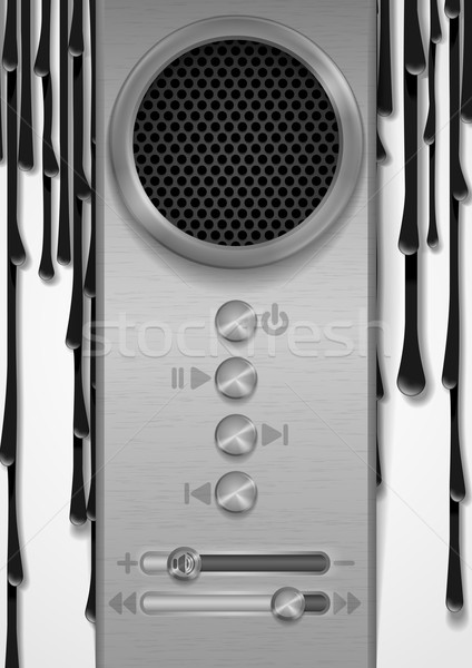 Resumen orador diseno eps 10 música Foto stock © HelenStock