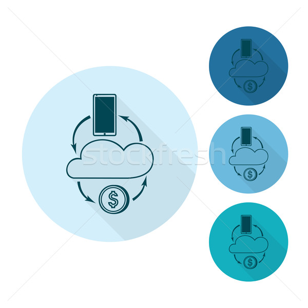 Foto stock: Beneficio · nube · negocios · financiar · icono