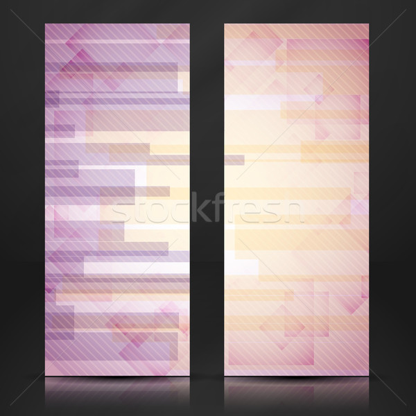 Abstract roze rechthoek banner eps Stockfoto © HelenStock