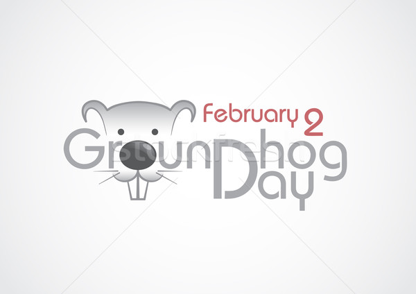 Groundhog Day, Text. Stock photo © HelenStock