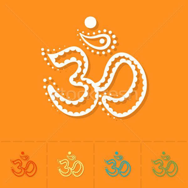 Diwali indian festiwalu ikona proste Zdjęcia stock © HelenStock