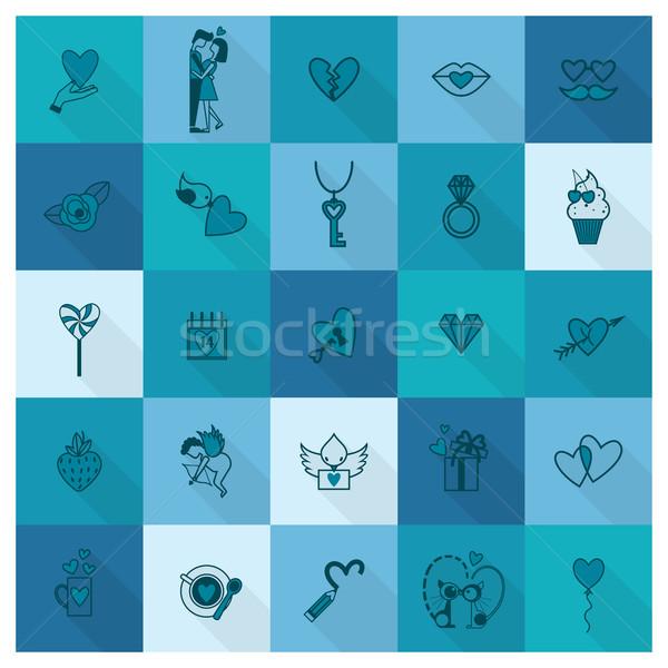 Happy Valentines Day Icons Vector Illustration C Olena Ovcharenko