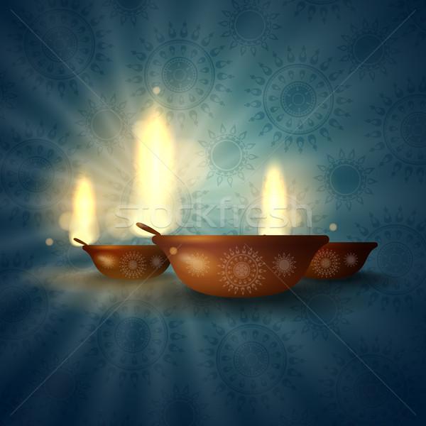 Gelukkig diwali festival eps 10 ontwerp Stockfoto © HelenStock