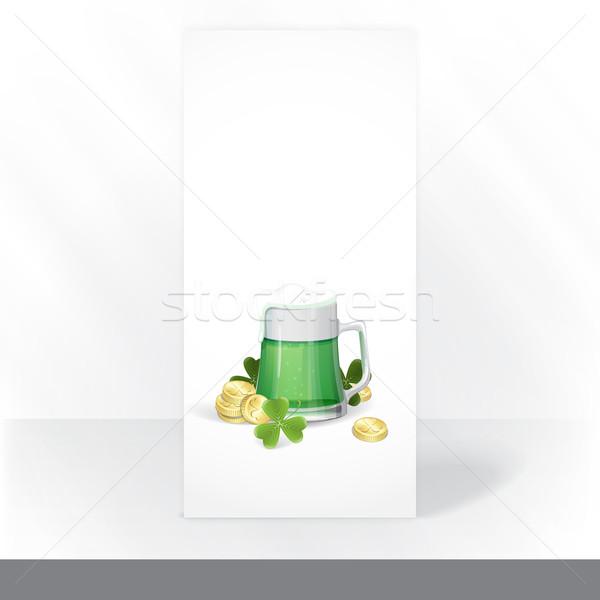 マグ 緑 ビール 聖パトリックの日 ストックフォト © HelenStock