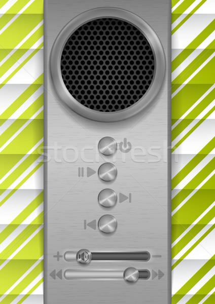Résumé orateur design eps 10 musique Photo stock © HelenStock