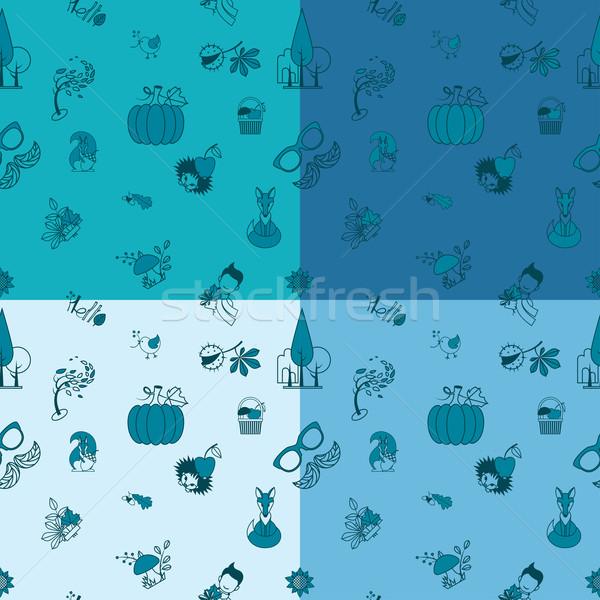 ストックフォト: 秋 · 4 · 異なる · 色 · ベクトル