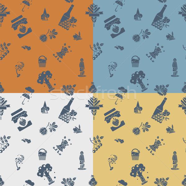 秋 4 異なる 色 ベクトル ストックフォト © HelenStock