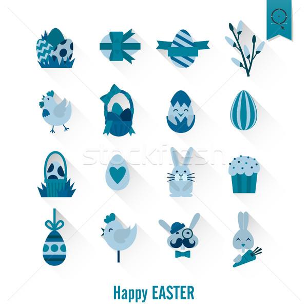 Celebration Easter Icons Stock photo © HelenStock