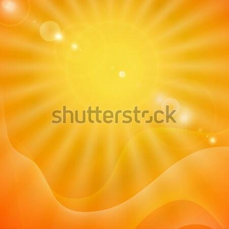 Abstract zomer eps 10 zonsondergang achtergrond Stockfoto © HelenStock