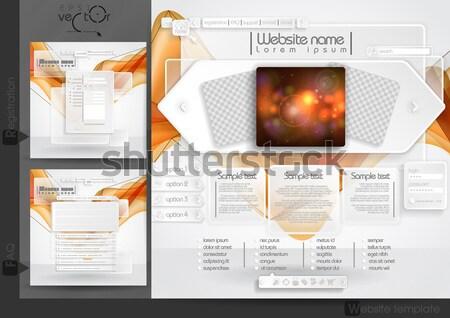 Design do site modelo menu elementos faq Foto stock © HelenStock