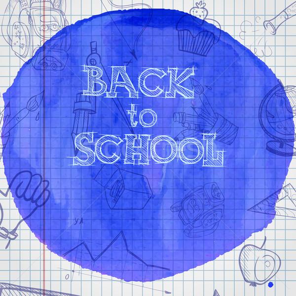 Iskola tanszerek eps 10 üzlet könyv Stock fotó © HelenStock