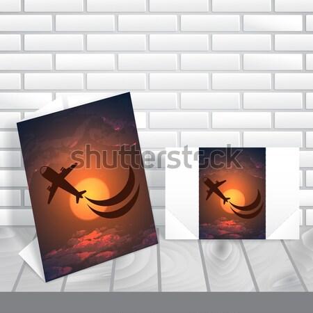 Buli meghívó üdvözlőlap design sablon eps 10 égbolt Stock fotó © HelenStock