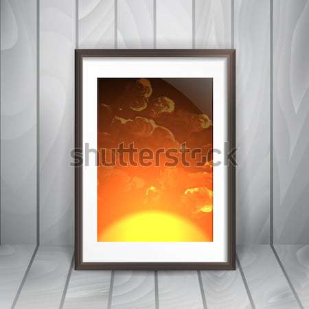 Photo Frame On The Wall Stock photo © HelenStock