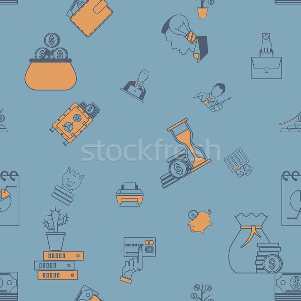 üzlet pénzügy végtelen minta egyszerű minimalista stílus Stock fotó © HelenStock