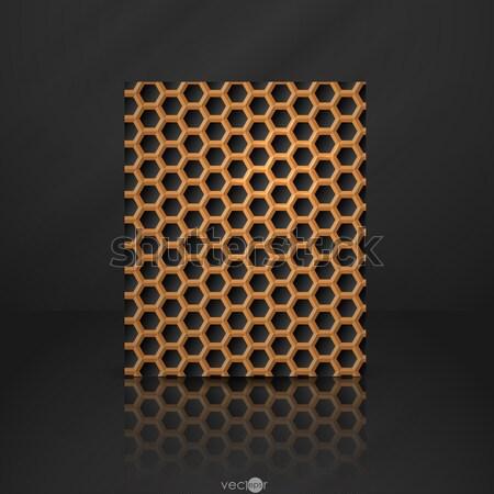 Hexagon Metal Banner. Stock photo © HelenStock