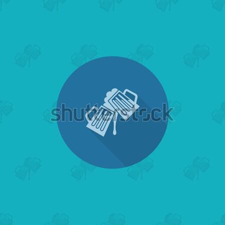 Dag icon vector schone werk Stockfoto © HelenStock