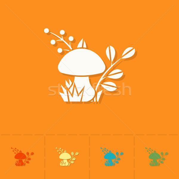 Champignons automne icône simple style Photo stock © HelenStock