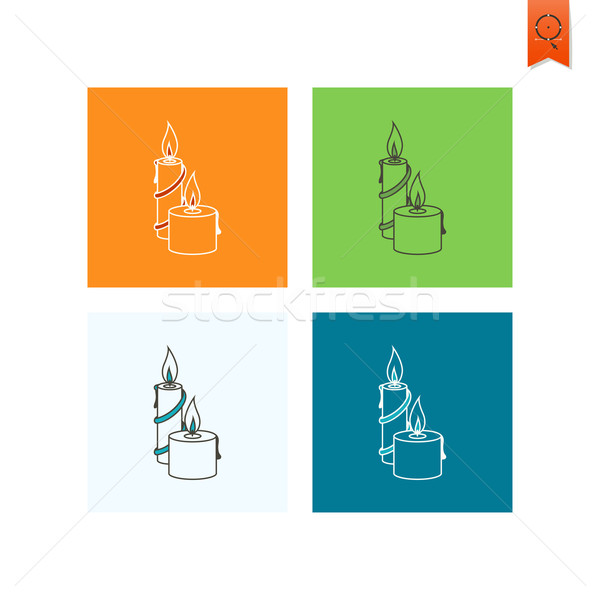 Christmas Candles. Colorful Stock photo © HelenStock