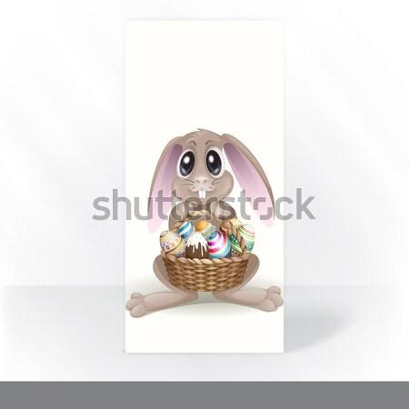 Iyi paskalyalar tebrik kartı tasarım şablonu eps 10 mutlu Stok fotoğraf © HelenStock