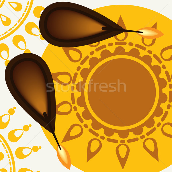 Heureux diwali festival eps 10 feu Photo stock © HelenStock