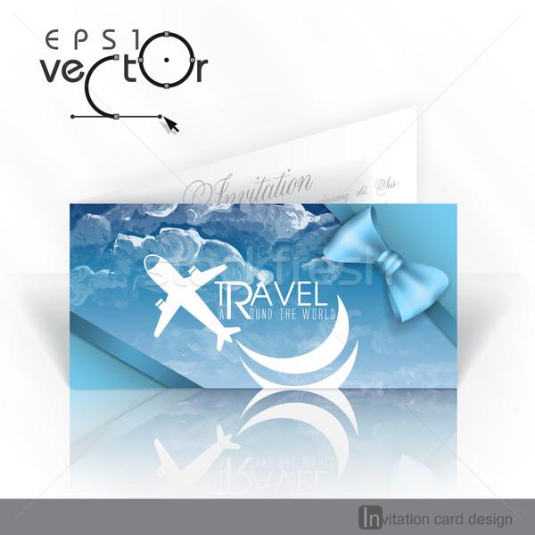 Invitation Card Design Template Vector Illustration Olena