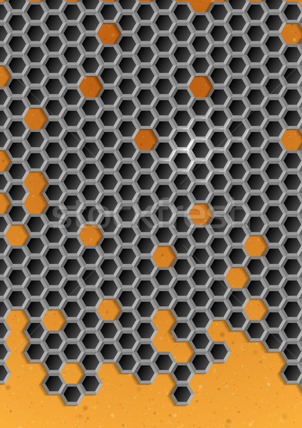 Hexagon Metal Background. Stock photo © HelenStock