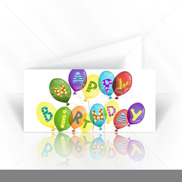 Einladungskarte Design-Vorlage farbenreich Geburtstag Business Papier Stock foto © HelenStock