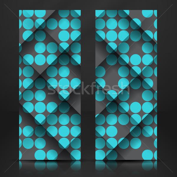 Abstract geometrisch patroon eps 10 business textuur Stockfoto © HelenStock