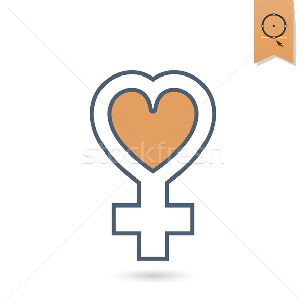 Womans Day Icon Stock photo © HelenStock