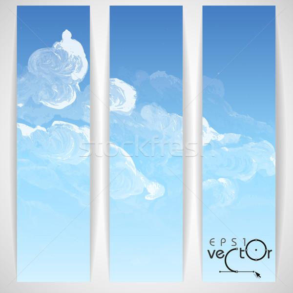 Nube cielo pintado eps 10 papel Foto stock © HelenStock