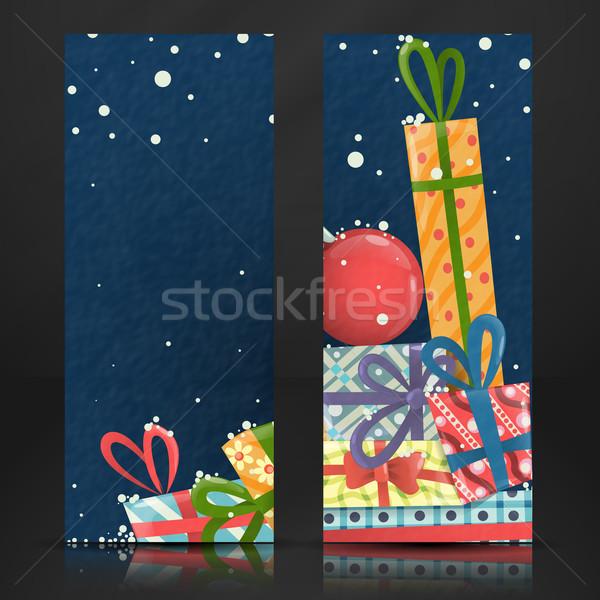 Alegre Navidad feliz año nuevo eps 10 negocios Foto stock © HelenStock