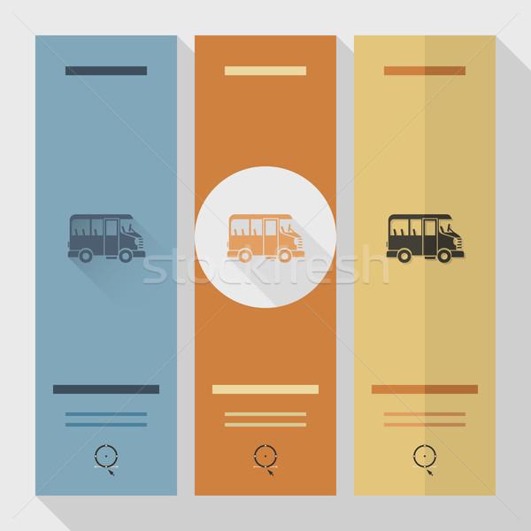 Okul eğitim simgeler ikon otobüs dizayn Stok fotoğraf © HelenStock