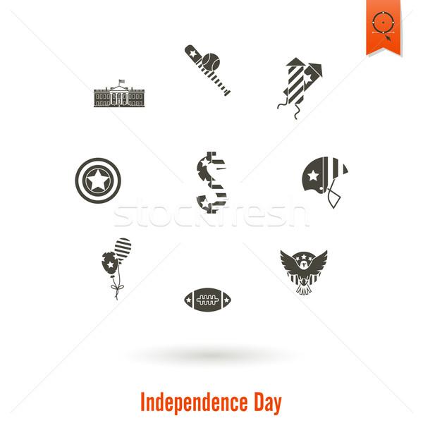 Día Estados Unidos cuarto simple iconos vector Foto stock © HelenStock