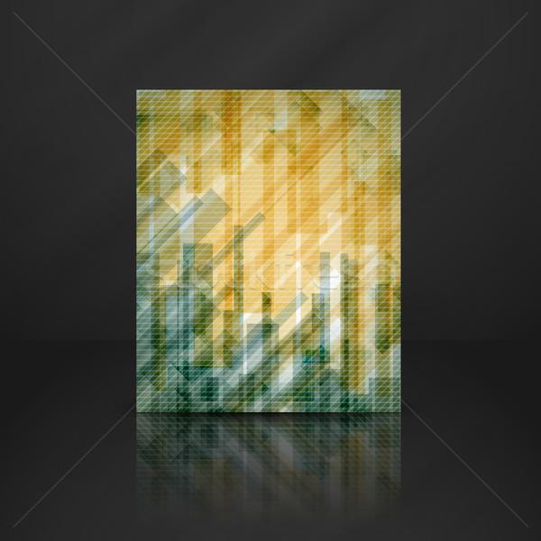 Streszczenie żółty prostokąt eps 10 Zdjęcia stock © HelenStock