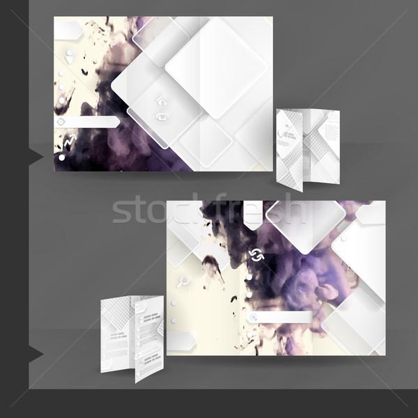 Business Brochure Template Design Stock photo © HelenStock
