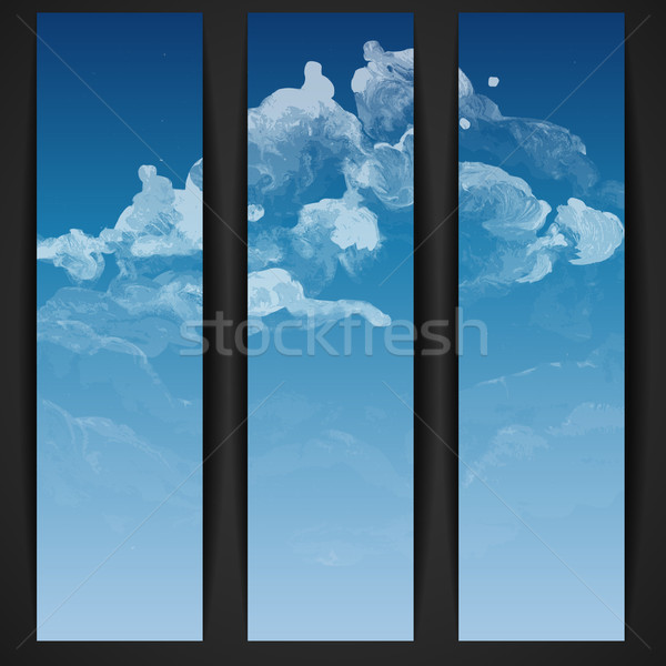 Bulut gökyüzü boyalı eps 10 kâğıt Stok fotoğraf © HelenStock