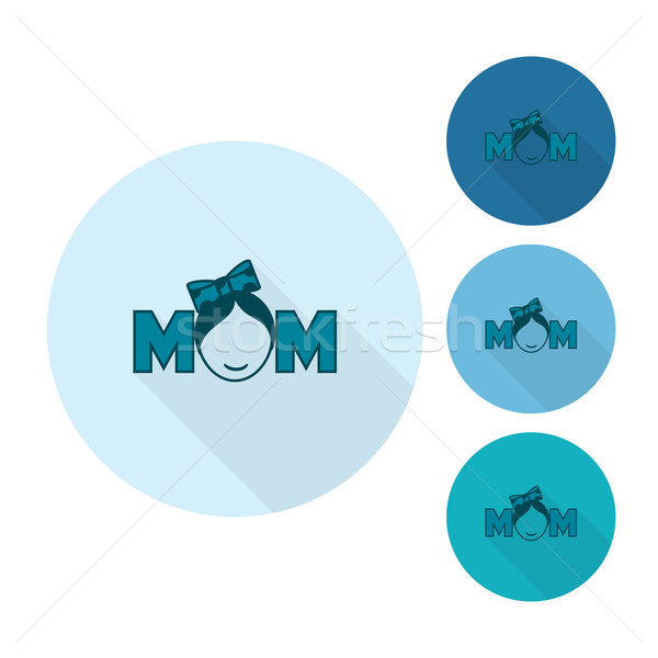 Happy Mothers Day Icon Stock photo © HelenStock