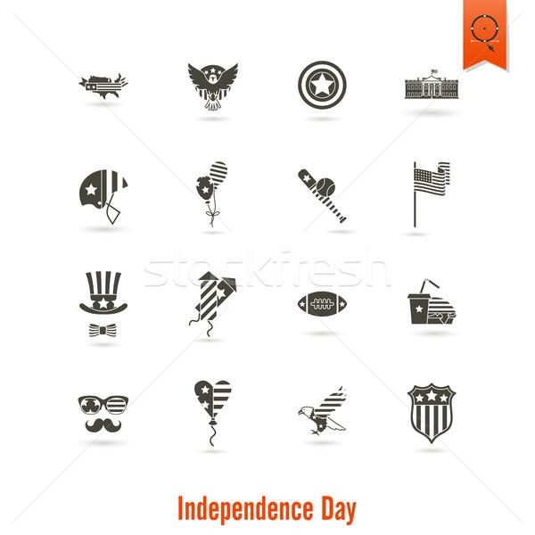 Foto stock: Dia · Estados · Unidos · simples · ícones · vetor