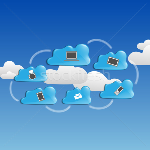 Cloud ?omputing ?oncept. Stock photo © HelenStock