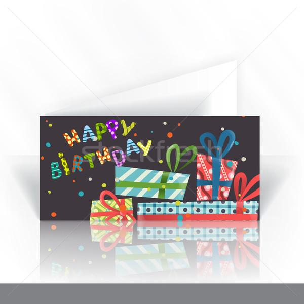 Ontwerpsjabloon kleurrijk verjaardag business papier Stockfoto © HelenStock