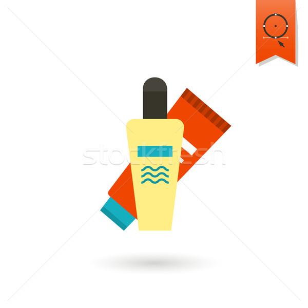 Verão praia simples ícone viajar férias Foto stock © HelenStock
