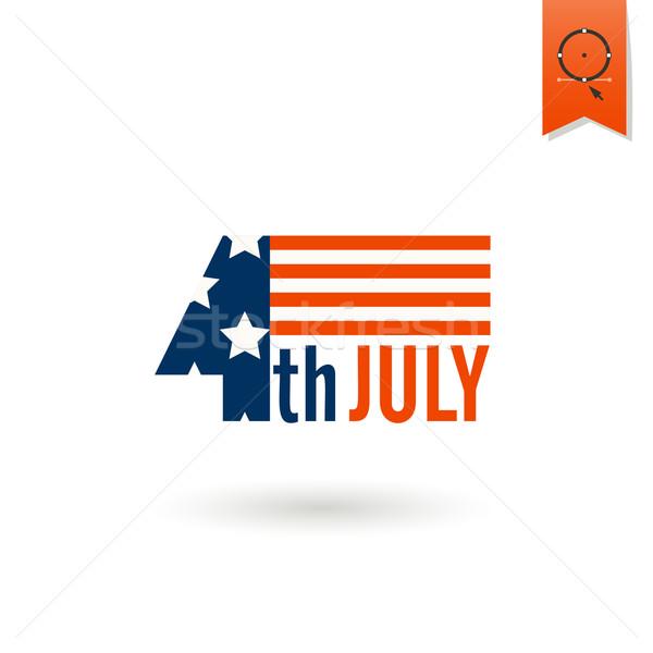 Gün Amerika Birleşik Devletleri basit ikon vektör Stok fotoğraf © HelenStock