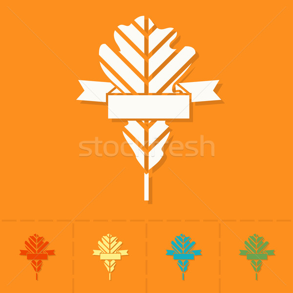 Leaf with Ribbon for Text Stock photo © HelenStock