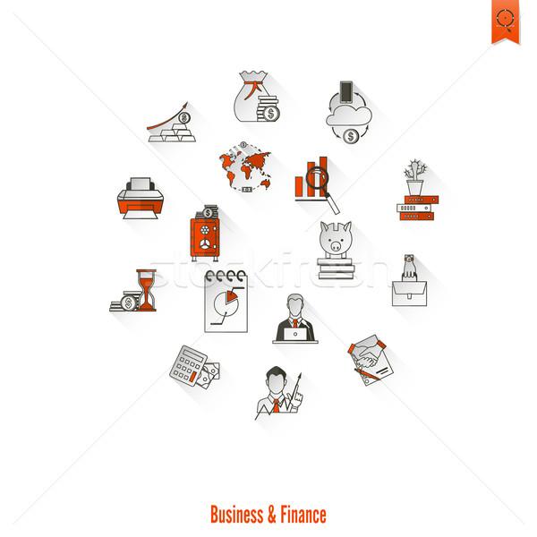 Negócio financiar simples estilo Foto stock © HelenStock