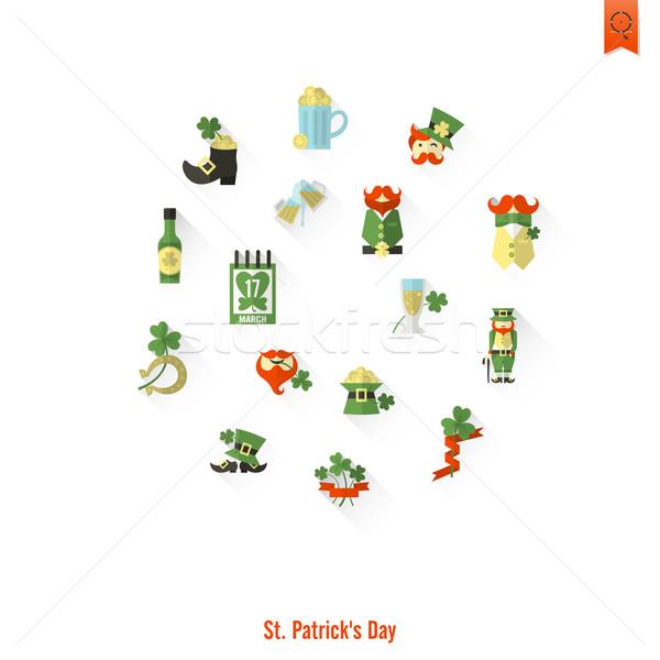 Saint Patricks Day Isolated Icon Set Stock photo © HelenStock