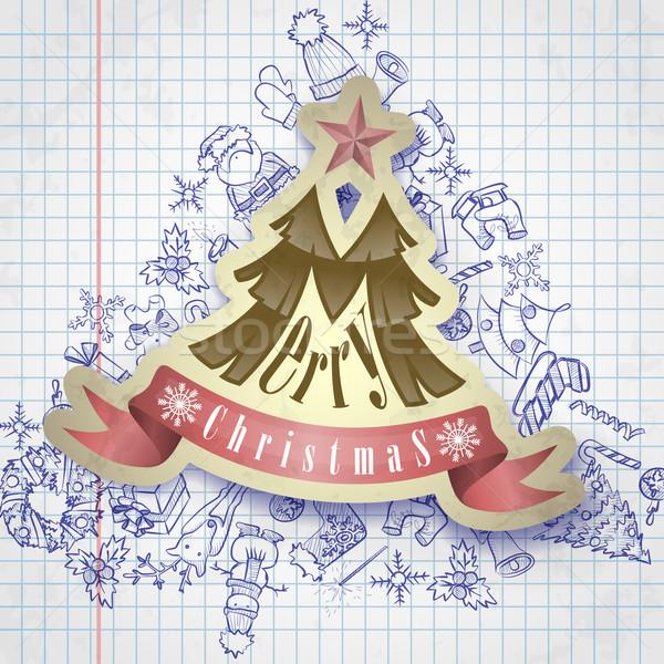 クリスマス シンボル ステッカー eps 10 ストックフォト © HelenStock