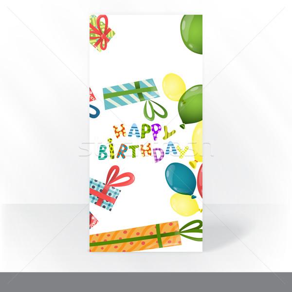 şablon renkli doğum günü partisi Stok fotoğraf © HelenStock