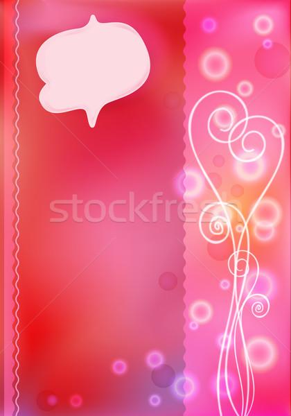 Roze groet kaarten valentijnsdag bokeh harten Stockfoto © heliburcka